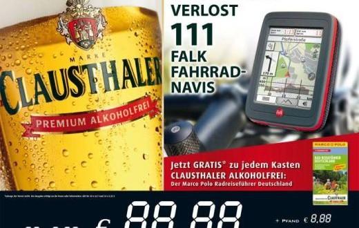 Jede Tour ein Genuss – Falk und Clausthaler Alkoholfrei verlosen 111 IBEX Fahrrad-Navis