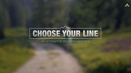 Choose your Line – Ein interaktives Bike-Video von VAUDE