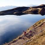 """Der Pfaffensee am Watles im Vinschgau zählt zu den landschaftlich reizvollsten Stationen des """"Ortler Bike Marathon"""". Bildnachweis: Ortler Bike Marathon/Sabine Jacob"""